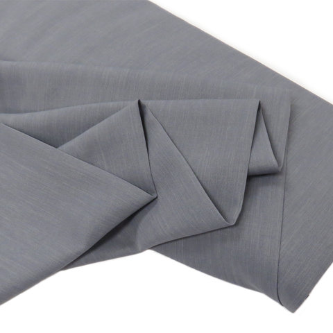 "Gray, Polyester Stretch Atlantic Linen - 60"" wide; 1 Yard"