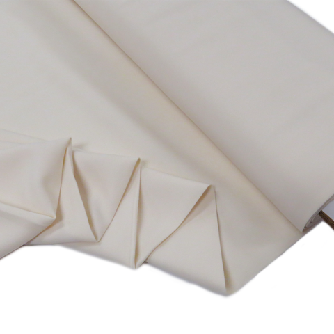 "Ivory, Polyester Stretch Atlantic Linen - 60"" wide; 1 Yard"