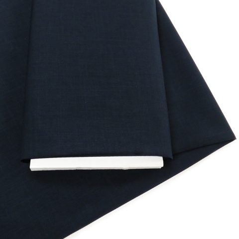"Navy, Polyester Stretch Atlantic Linen - 60"" wide; 1 Yard"