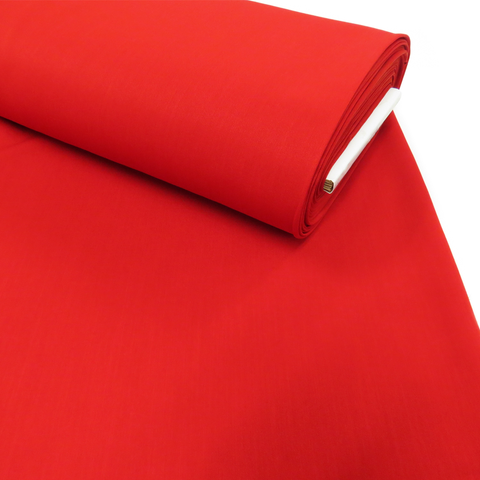 "Red, Polyester Stretch Atlantic Linen - 60"" wide; 1 Yard"