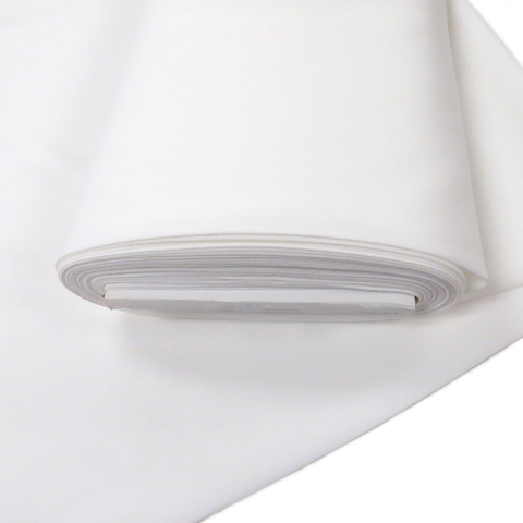 "White, Polyester Stretch Atlantic Linen - 60"" wide; 1 Yard"
