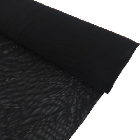 "Black, Polyester Stretch Mesh - 60"" wide; 1 Yard"