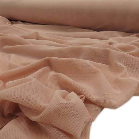 "Light Nude, Polyester Stretch Mesh - 60"" wide; 1 Yard"