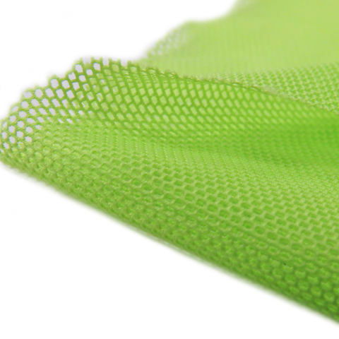 "Neon Kelly Green, Polyester Stretch Mesh - 60"" wide; 1 Yard"