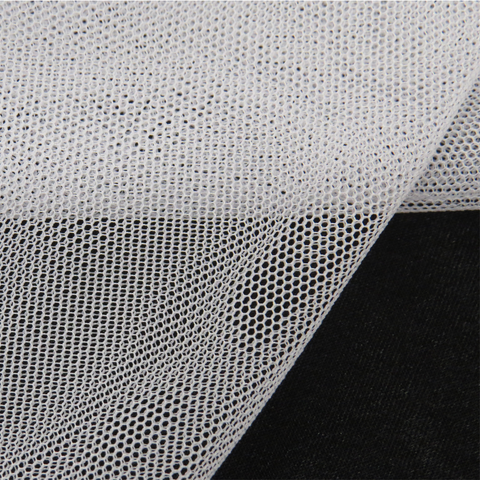 "White, Polyester Stretch Mesh - 60"" wide; 1 Yard"