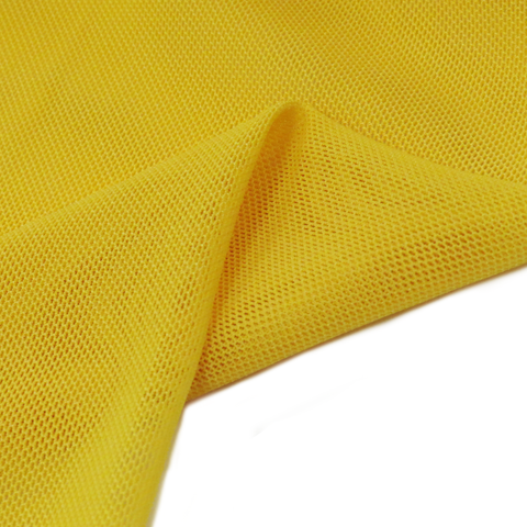 "Yellow, Polyester Stretch Mesh - 60"" wide; 1 Yard"