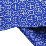 "Blue, Liturgic Fabric for Catholic Rite - 60"" wide; 1 Yard"
