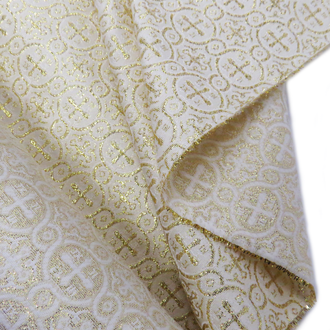 "Gold, Liturgic Fabric for Catholic Rite - 60"" wide; 1 Yard"