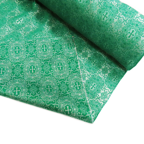 "Green, Liturgic Fabric for Catholic Rite - 60"" wide; 1 Yard"