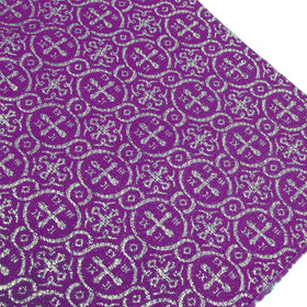 Purple, Polyester/Lurex Liturgia Fabric - 60