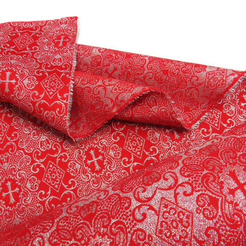 "Red, Liturgic Fabric for Catholic Rite - 60"" wide; 1 Yard"