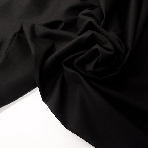 "Black, Raquet Poplin Fabric  - 60"" wide; 1 yard"