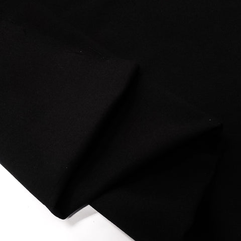"Black, Ribstock Fabric  - 60"" wide; 1 yard"