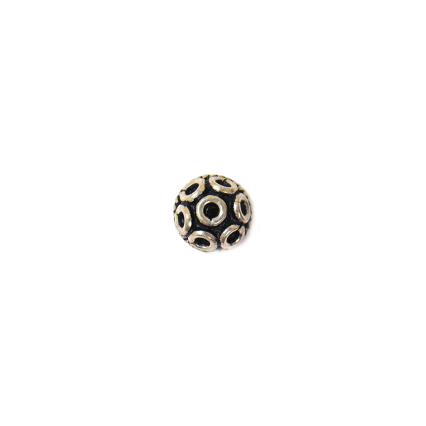 Round End Cap, Sterling Silver, 8x4mm -1 piece