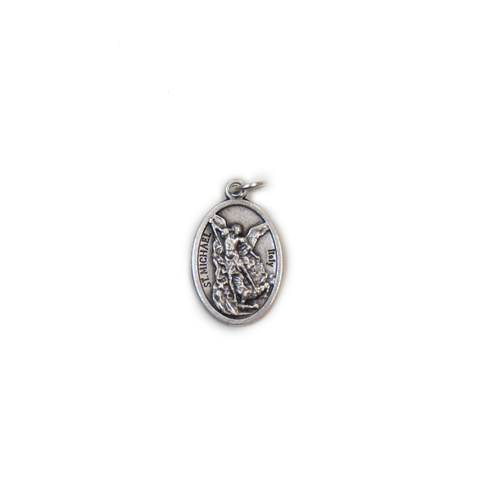 Saint Michael Italian Charm, Antique Silver- 1 piece