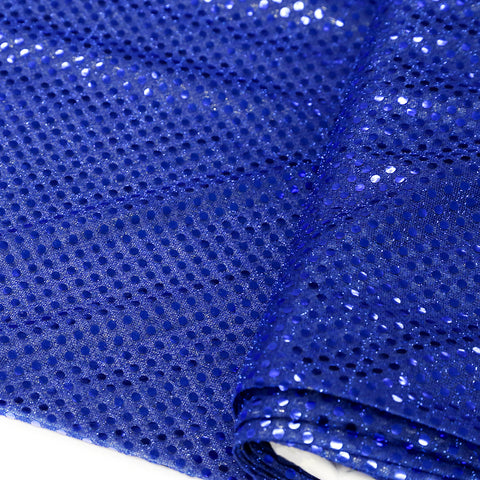 "Royal Blue, Polyester Sequin - 44"" wide; 1 Yard"