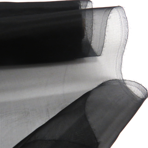"Black, Silk Organza - 54"" wide; 1 Yard"