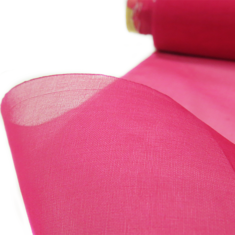 "Fuchsia, Silk Organza - 54"" wide; 1 Yard"