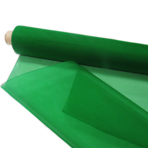 "Green, Silk Organza - 54"" wide; 1 Yard"
