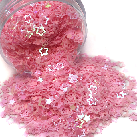 Star Shaped Pink Glitter; 10 grams