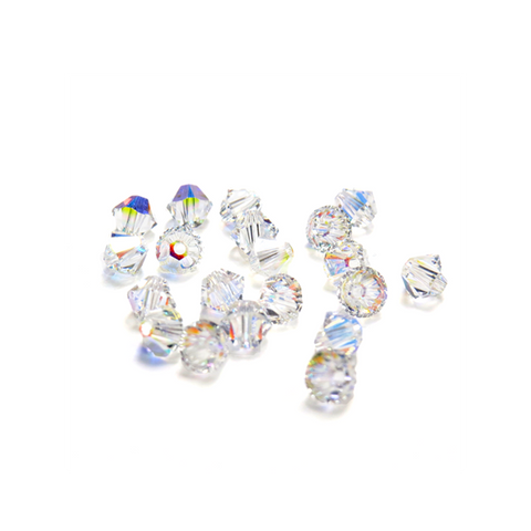 Swarovski Crystal, Bicone, 4mm- Crystal AB; 20pcs