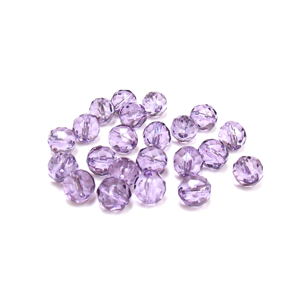 Tanzanite, , Round Faceted Fire Polished- 10mm; 20pcs
