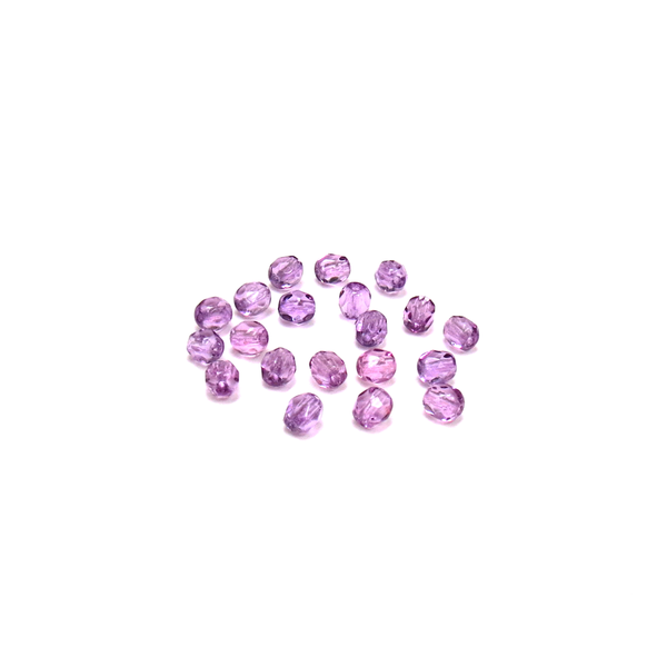 Tanzanite, Round Faceted Fire Polished; 4mm - 20 pcs