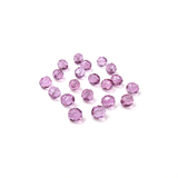 Tanzanite, Round Faceted Fire Polished; 8mm - 20 pcs