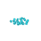 Turquoise, Round Faceted Fire Polished; 4mm - 20 pcs
