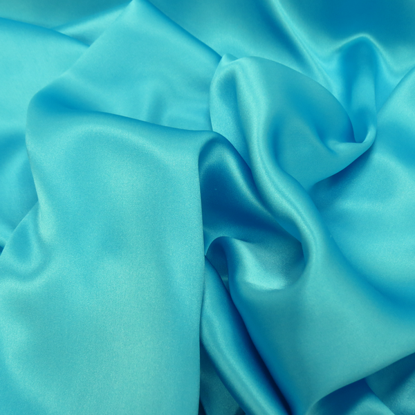 "Silk Charmeusse, Turquoise, 54"" Wide- 1 Yard"
