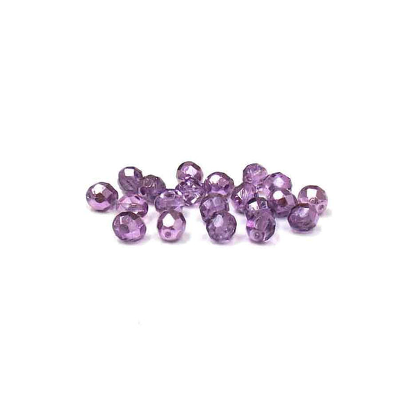 Two Tone Metallic Tanzanite, Round Faceted Fire Polished; 8mm - 20 pcs