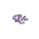 Two Tone Metallic Tanzanite, Round Faceted Fire Polished, 6mm- 20pcs