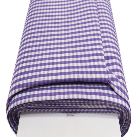 "Purple Gingham Check 1/8- 60"" wide; 1 yard"