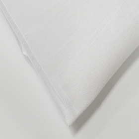 White, 100% Textured Shantung - 118