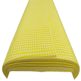Yellow, 100% Polyester Gingham Check 1/8- 58