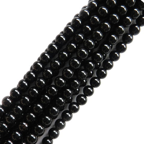 Black Agate, 8mm - 1 strand