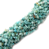 Amazonite Chips, 10x6mm, 36 inches per strand - 1 strand