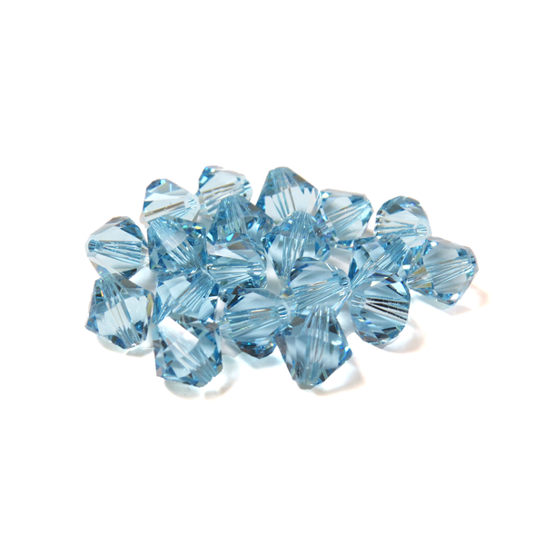 Swarovski Crystal, Bicone, 8MM - Aquamarine; 20pcs