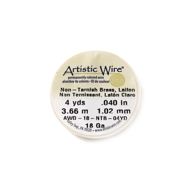 Artistic Wire, Gold, 18 Gauge 1.0 mm - 4 yards