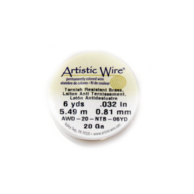 Artistic Wire, Gold, 20 Gauge 0.81mm - 6 yards
