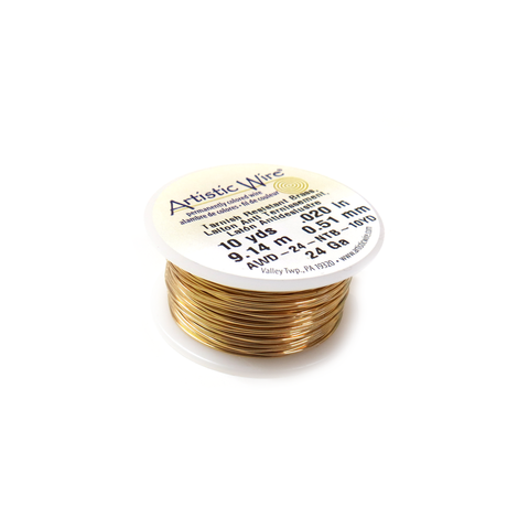 Artistic Wire, Gold, 24 Gauge 0.51mm - 10 yards