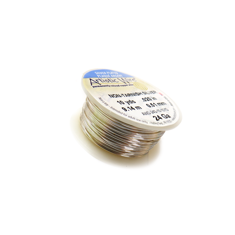 Artistic Wire, Silver Plated, 24 Gauge, 0.51mm - 10 yards