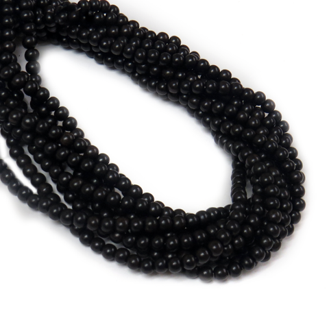 Black Ebony Wood, 6mm - 1 Strand
