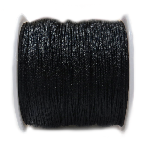 Nylon Cord, 1mm- Black; 60 yards