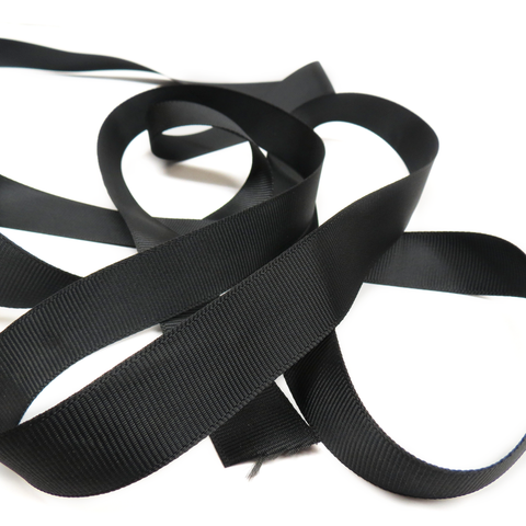 "Black- Grosgrain Ribbon, 3/4""- 1 Yard"