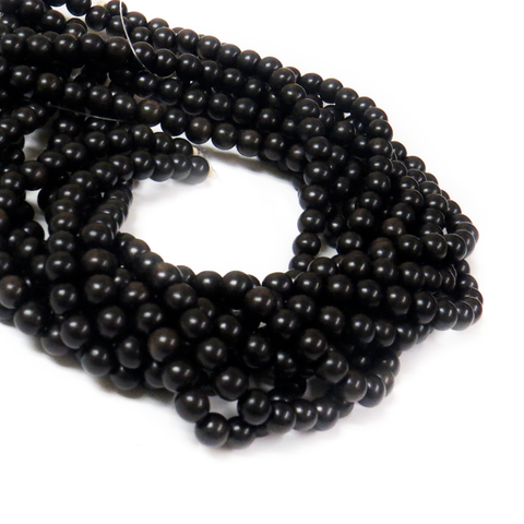 Black Ebony Wood, 8mm - 1 Strand