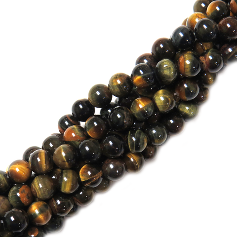 Blue Tiger Eye, 8mm - 1 strand