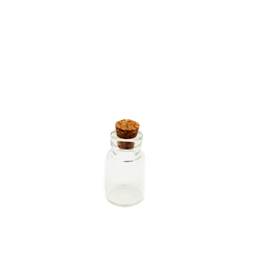 Crystal Bottle woth Cork, 23x13mm; 1 piece