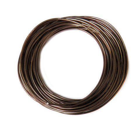 Aluminum Wire, Bronze, 2mm, 4 yard roll; 1 roll