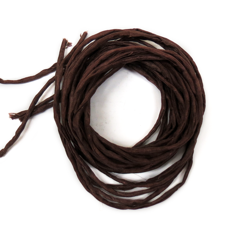 "Silk Cord, Brown, 39"" Long; 1 piece"